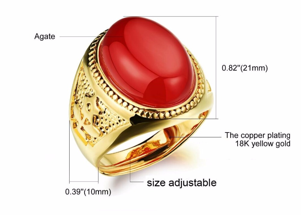 Asian Style Hyperbole Jewelry Men S Ring Jeweled Party Ring 3 Colors