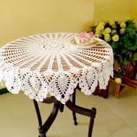 The Manual Crochet Hook Flower 100 Cotton Hollow Out Knit Table Cloth American Country Style Table