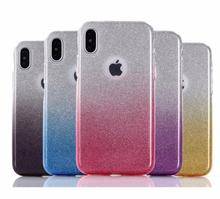 DOYAEL роскошные стразы с блестками Смола чехол для телефона s для iPhone X 6s 7 8 6s плюс 7 plus 8 плюс Ясно Мягкие tpu чехол для телефона чехол