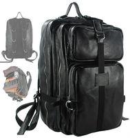Fashion Genuine Leather backpack Men Backpack Bag school Backpack male Leather Travel Rucksack Men Knapsack mochila Large Black