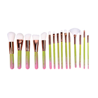 15pcs Fashion Makeup Brushes Face Powder Foundation Eyeshadow Blush Brush Set Makeup Cosmetic Maquillage Brushes Tool