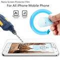 Nano a prueba de explosiones protector de pantalla de cine para apple iphone 7 7 plus 4 4S 5 5S SE 6 6 s 6 Más 6 s Más Templado Glass
