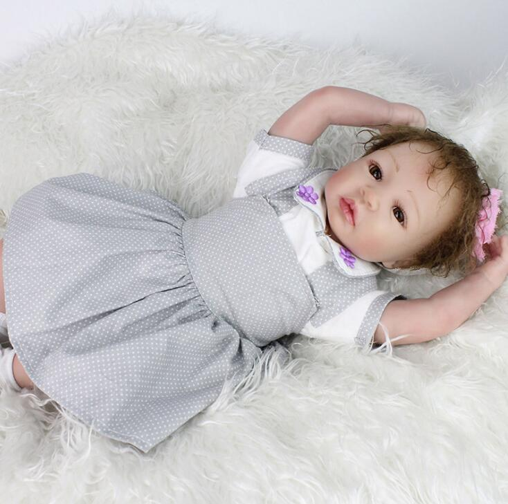 20 inch baby reborn realisting quality girl doll reborn babies soft silicone baby dolls Girl Silicone Reborn baby Dolls reborn 22 inch silicone reborn dolls baby alive silicone reborn toddler princess girl dolls body silicone girl reborn babies doll