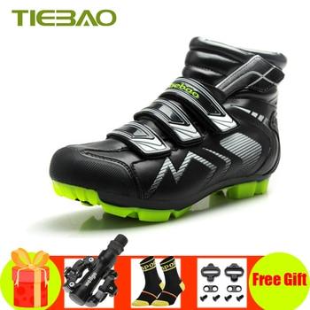 Zapatillas de invierno Tiebao, zapatillas de ciclismo mtb para ciclismo, bicicleta de...