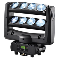 American DJ LED spider moving head beam wash light 8x10W RGBW 4in1 White stage lighting100W multi color change DMX controller
