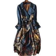 Осенний и зимний замшевый Тренч с длинными рукавами для женщин, большие размеры