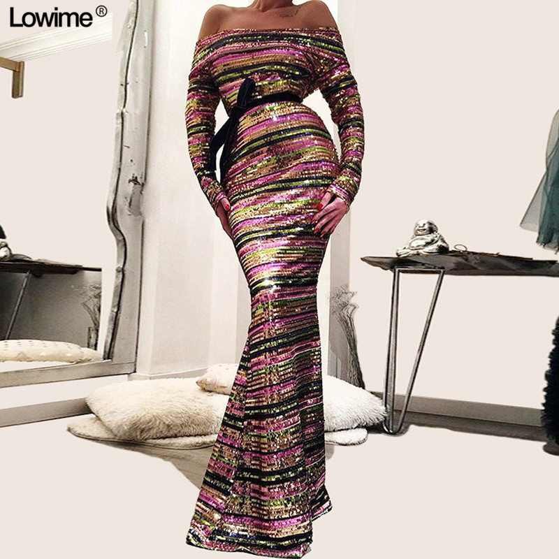 Shinny Mermaid Prom Long Elegant Dresses Sleeves 2018 Floor Length Strapless vestido formatura