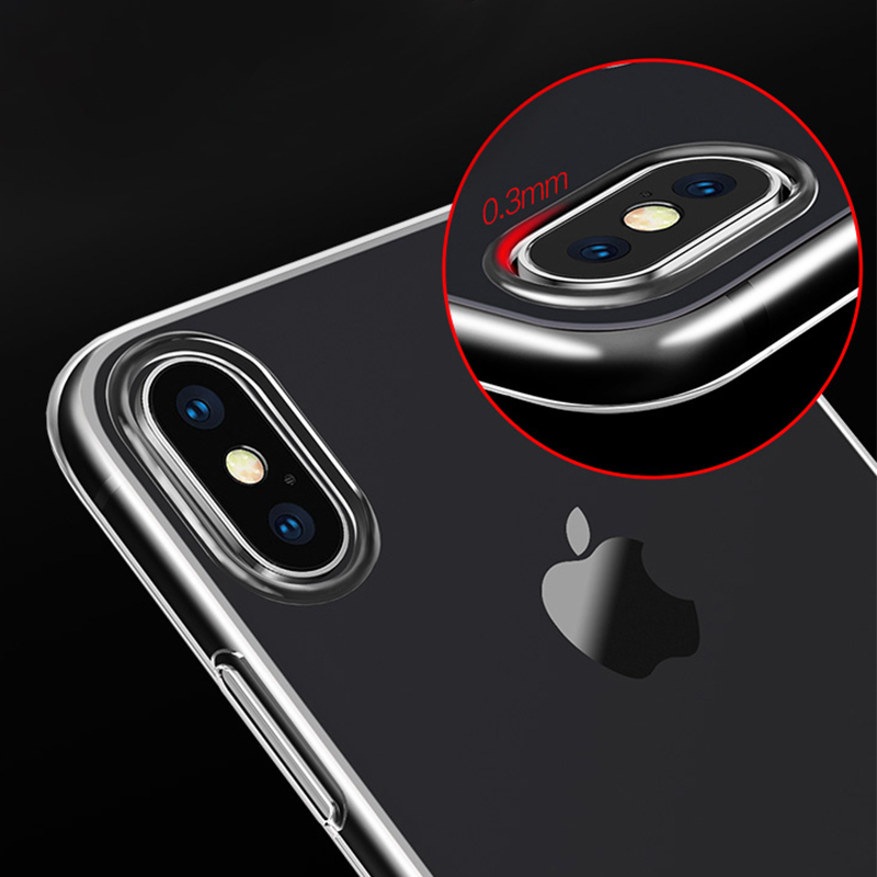 Suntaiho Luxury Glass Case For iPhone XS MAX XR Cases Ultra Thin Transparent Back Glass Cover For iPhone X 7plus 8plus Soft Edge