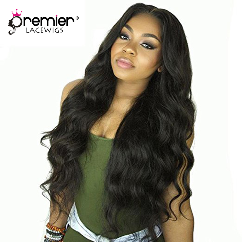 PREMIER LACE WIGS 360 Lace Wigs Body Wave Brazilian Virgin Human Hair,150% Thick Density,Pre Plucked Hairline [360LW09]