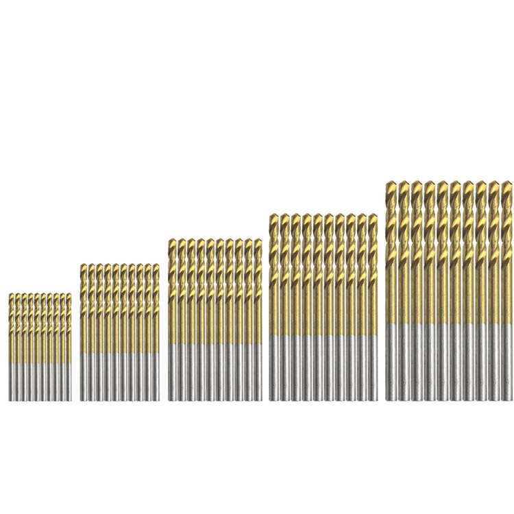 5pcs Titanium Coated HSS Hi Speed Steel Drill Bit Set Hobby Tool 3.1 mm