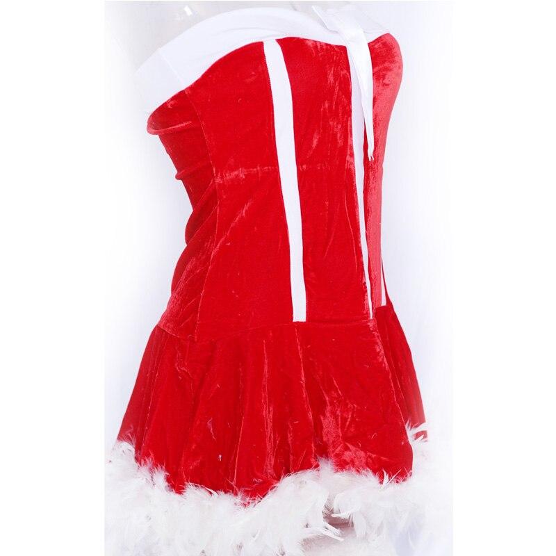 Սեքսուալ Ձմեռ պապի զգեստները Կարմիր - Կարնավալային հագուստները - Լուսանկար 3