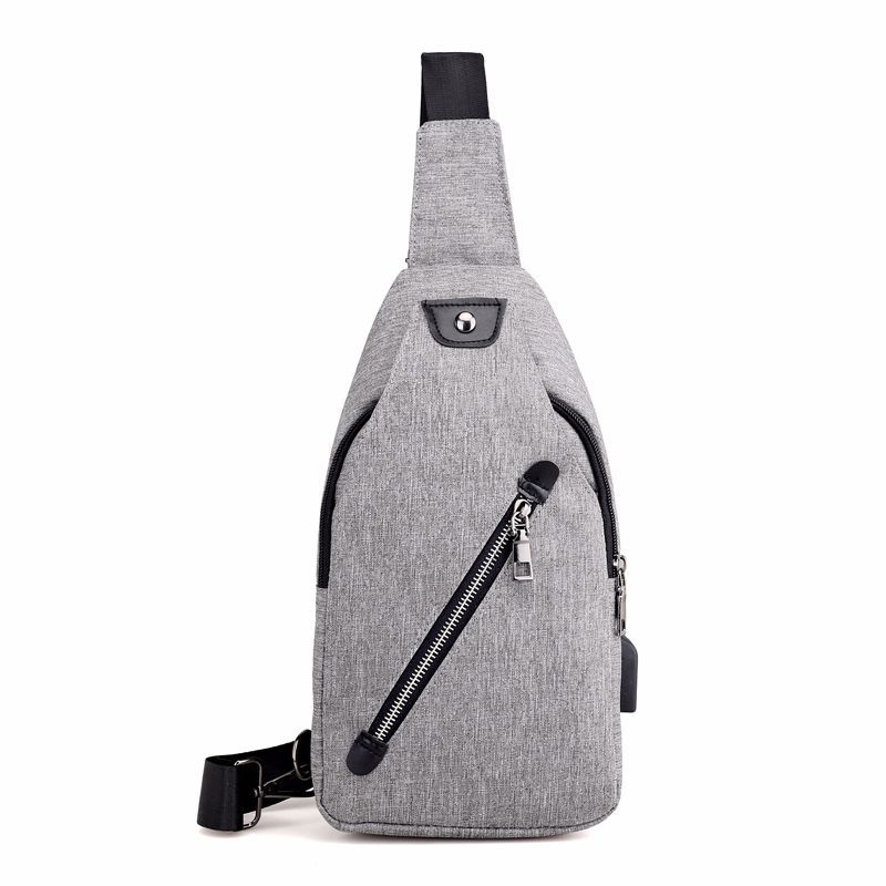 2019 New Anti Theft Backpack Men's Chest Backpack Unisex Casual Canvas USB Charge Backpack Crossbody Sling Single Shoulder Bag