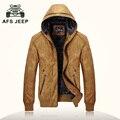 Мужская кожаная куртка бренд AFS JEEP jaqueta де couro masculina мото куртка бомбардировщик байкер куртка искусственная кожа пальто Из Замши 9970