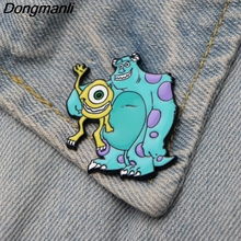 DMLSKY Cartoon Brooches Cool Enamel Brooch For Women Men Tie Pins Personality Clothes Pin Badge Jewelry M2894