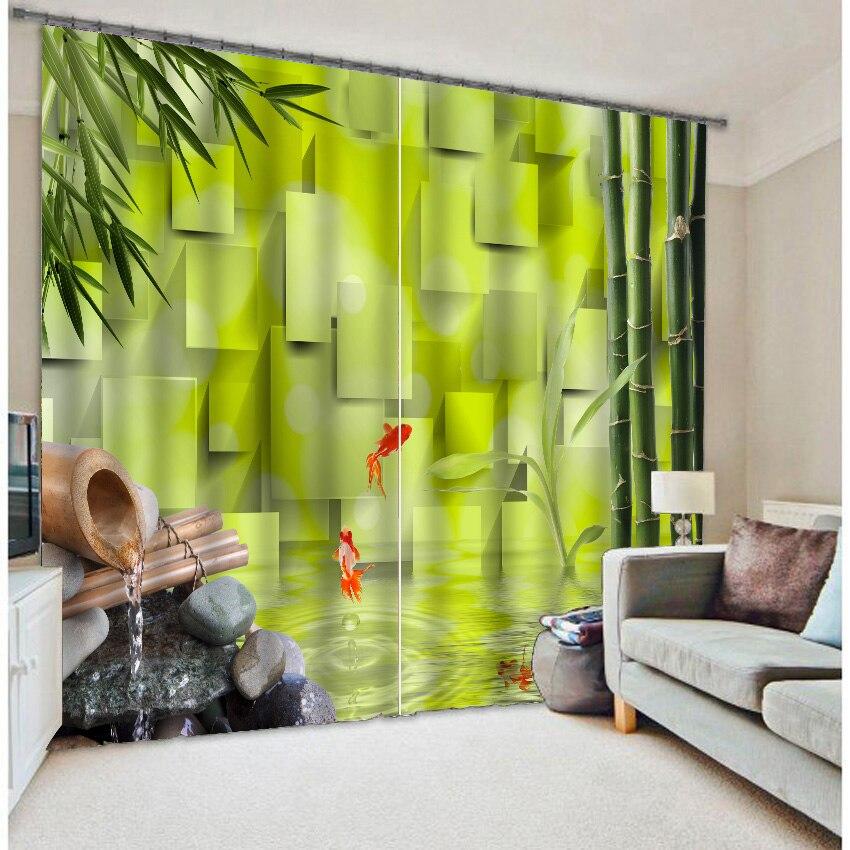 Chanceux bambou enfant magnifique 3d impression en trois dimensions jade rideaux