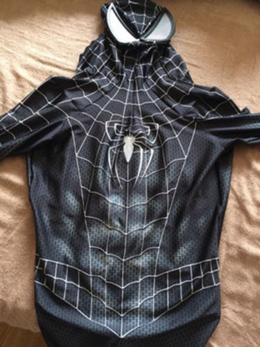 3D print venom symbiote Black Raimi Spiderman Zentai Costume Lycra Ultimate Black Spider Man Cosplay Suit