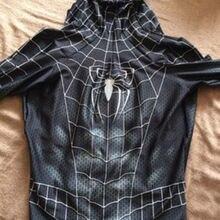 3d принт Веном симбиот черный Райми Человек-паук Zentai костюм лайкра конечный черный Человек-паук косплей костюм на заказ костюм Райми