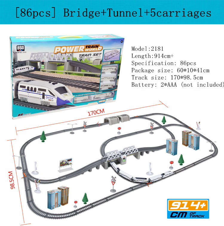 Simulation of high-speed rail motor vehicle rail car electric Thomas train harmony bullet train children's toy mold juguetes