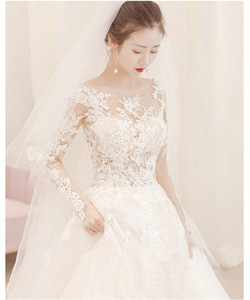Image 3 - Cheap Wedding Dress 2020 New Mrs Win Full Sleeve Classic Embroidery Lace Up Ball Gown Princess Wedding Dresses Robe De Mariee F
