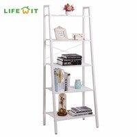 Lifewit 5 Tier Shelves Ladder Bookcase Storage And Display Standing Shelving Unit For Bedroom Kitchen Gaarage