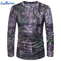 Men's Long Sleeves Round Neck Fitness T-shirt New 2017 Military Style Camouflage T shirts