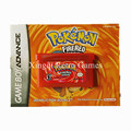 Nintendo GBA Game Pokemon Fire Red Video Game Cartridge Console Card English Version with Manual Book