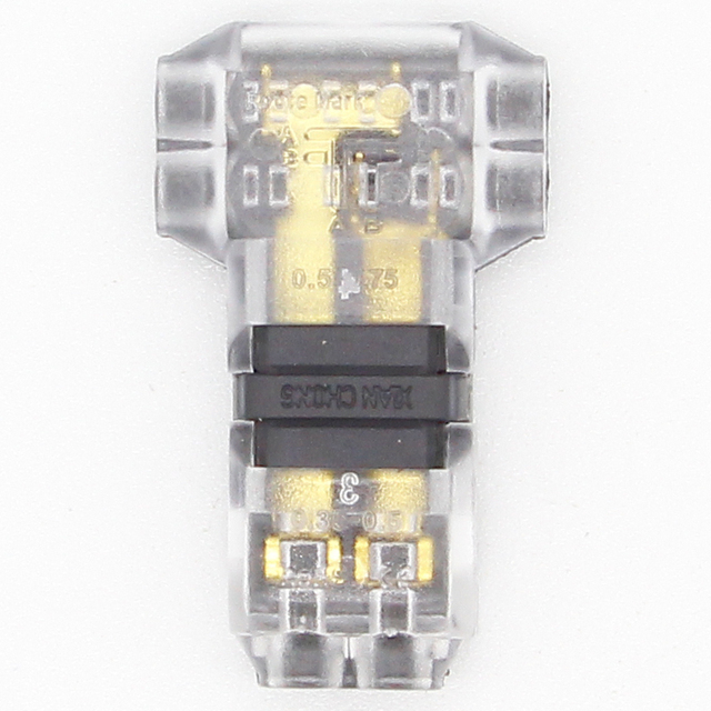 5Pcs/lot 2 Pin 2 Way 300v 10a Universal Compact Wire Wiring Connector T SHAPE Conductor Terminal Block With Lever AWG 18-24