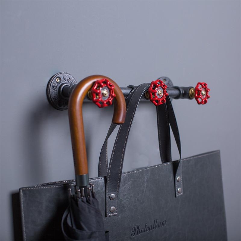 Ipari szüreti fém kabáttartó vasból készült dekoratív fali - Bútorok - Fénykép 6