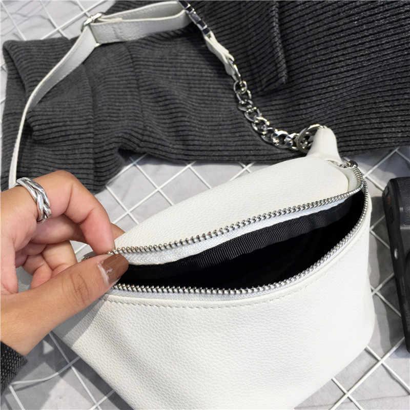ファッションチェーンpuライチレザーファニーパックウエストバッグbananka防水盗難防止女性ウォーキングショッピング腹巻ベルトバッグ