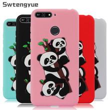 Honor 7A pro Case on For Coque Huawei case 3D Cartoon Panda Soft Silicone 7 A Phone