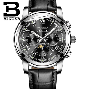 Image 3 - שוויץ אוטומטי מכאני שעון גברים Binger יוקרה מותג Mens שעונים ספיר שעון עמיד למים relogio masculino B1178 12