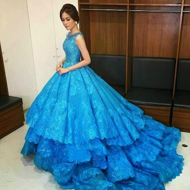 Aliexpress.com : Buy 2016 Saudi Arabia Lace Royal Blue Ball Gown ...