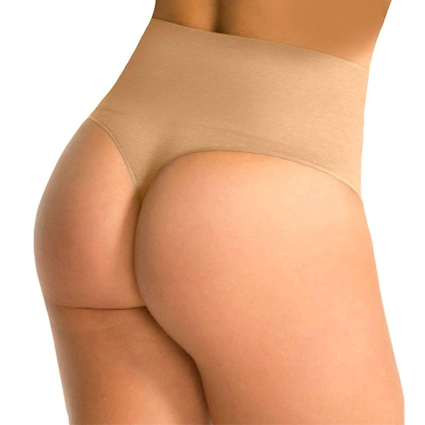 Women Booty Tummy Control Butt Lifter Panty Booster Body Shaper Weight Loss Thong Shaper Waist Cincher