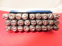 27pcs 10 MM Capital Letter A Z Punch Stamp Set Steel Punch Tool