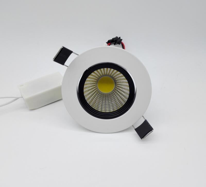 Бесплатная доставка COB 10 Вт затемнения теплый холодный белый Светодиодный потолочный светильник Встраиваемый светильник AC85-265V