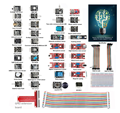 37modules Sensor Kit for Raspberry Pi 3 2 and RPi 1 Model B+40Pin GPIO Extension Board Jump wires Including