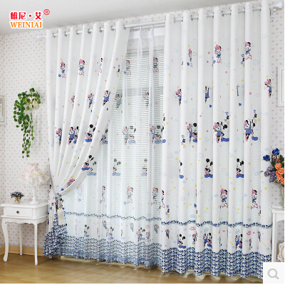 US $62.0  Boys and girls kids room curtains curtains length Princess  bedroom curtains finished custom made fabric-in Curtains from Home & Garden  on ...