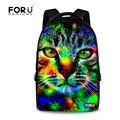 FORUDESIGNS Camouflage Animal Printing School Backpacks For Student Teenage Boys 17 Inch Laptop Rucksack Cool Tiger Lion Bags