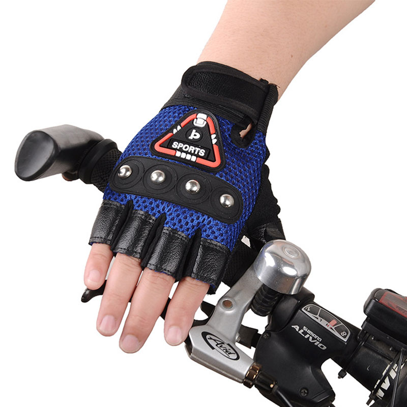 Motorcycle Outdoor Sports Half Finger Gloves Fingerless Tactical Hunting Cycling