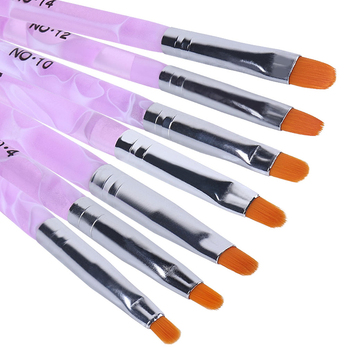 Elite99 7 teile/satz Malerei Zeichnung Pinsel Set Nail art Pinsel Stifte Lack Pinsel LED UV Gel Nagellack Maniküre Werkzeuge set Kit