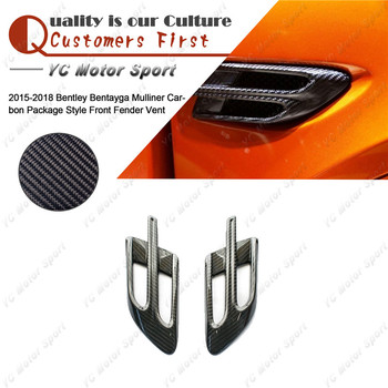 Car Accessories Carbon Fiber Fender Vent Fit For 2015-2018 Bentley Bentayga Mulliner Carbon Package Style Front Fender Vent image