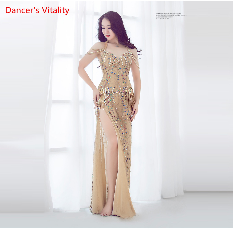 2019 Summer New Arrival Sexy Women's Dress Performance Show Oriental Silk Luxury Diamond Dance Competition Dress