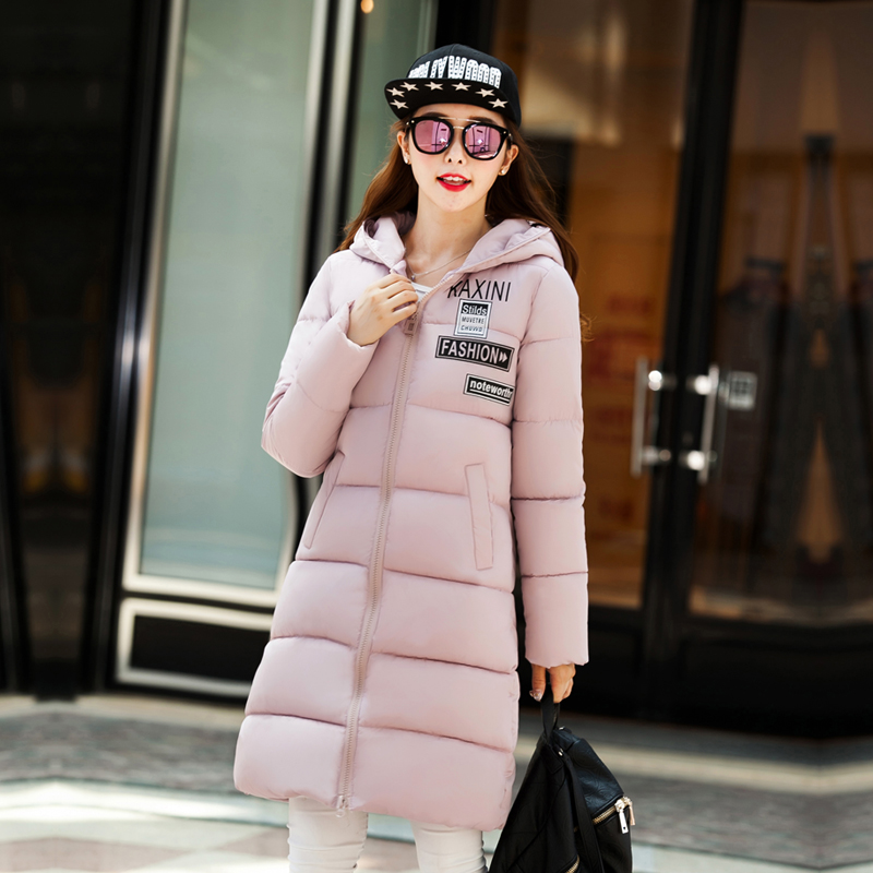 High Quality 2016 Fashion Women Parka Winter Jacket Female Long Coat Thick Hoody Lightweight Down Jacket Plus Size Outwear L-3XL  high quality womens coats winter fashion women parka winter jacket female long white duck down parkas coat thick hoody coat
