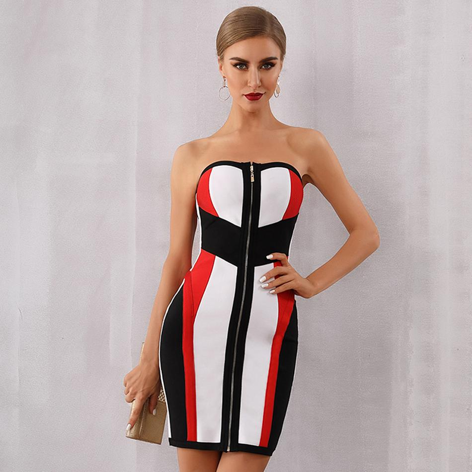Newest Summer Celebrity Party Bodycon Bandage Dress Women Sleeveless Strapless Sexy Night Out Club Mini Dress Women Vestidos-in Dresses from Women's Clothing on AliExpress - 11.11_Double 11_Singles' Day 1