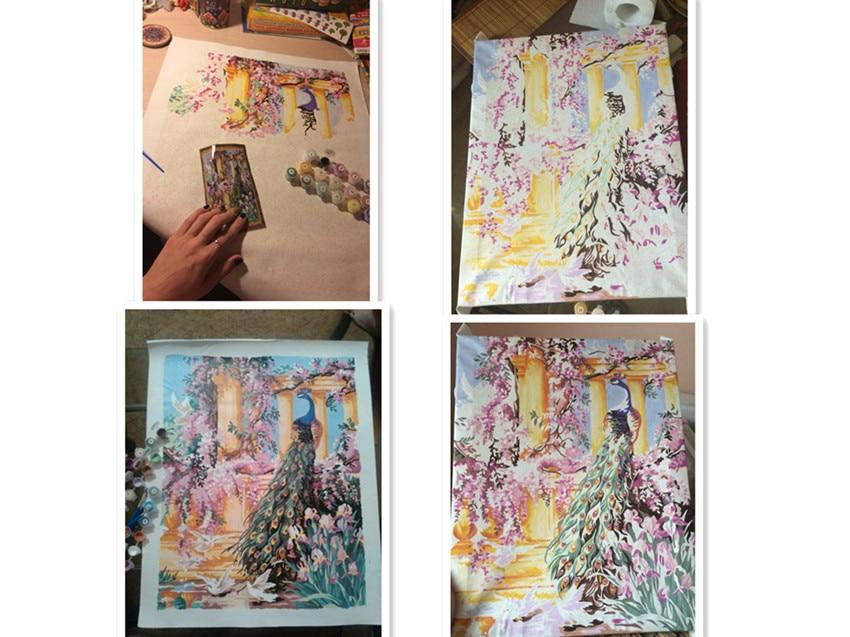 Diyの孔雀油絵by数字quadri da - 室内装飾 - 写真 6