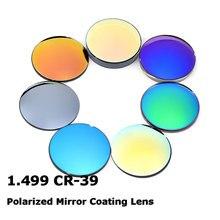 1.499 CR 39 مؤشر قياسي الراتنج مرآة ملونة طلاء قصر النظر المستقطب النظارات الشمسية العدسات البصرية وصفة طبية