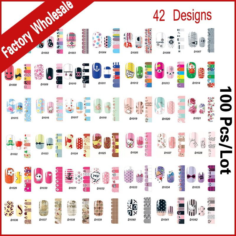 42Designs Smooth Nail Art Beauty Sticker Patch Nail Foils Polish Wraps Decals,100sheets/lot Manicure Nail Decorations Wholesale rocooart k2 water transfer nail art sticker chinese ink rose flowers christmas nail wraps sticker manicure decor decals foils