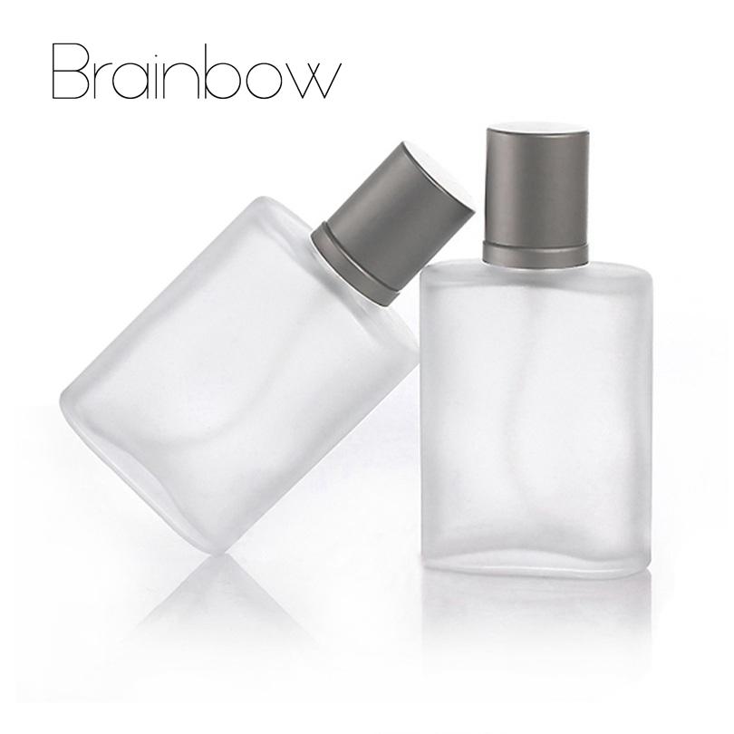 Brainbow 1 pc 35 ml Recarregáveis Vazio Atomizador Spray De Vidro Frasco de Perfume Portátil & Viajante Transparente Fosco Garrafas de Parfum