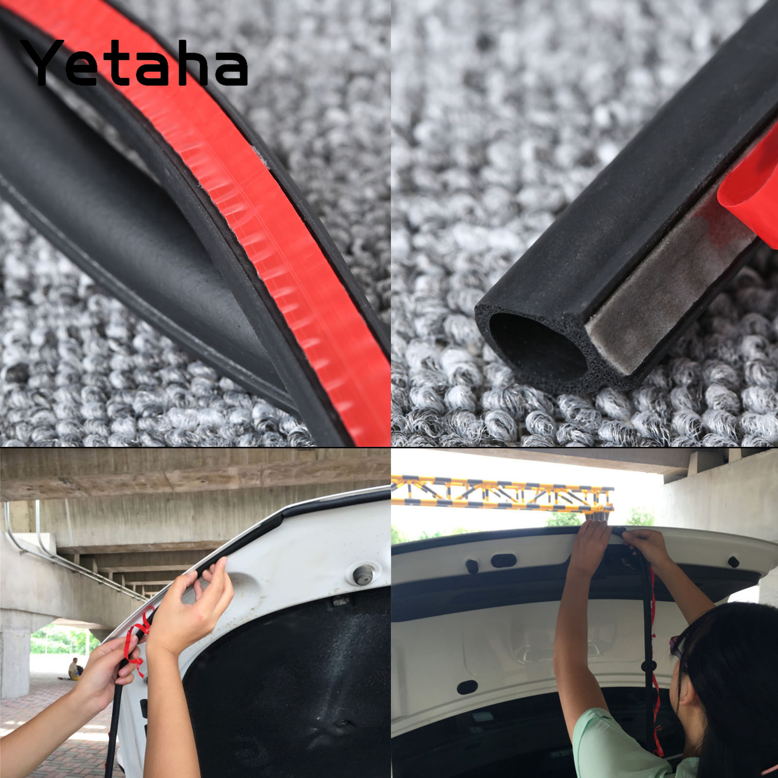 Image 2 - 8M Big D type Seal Strip EPDM Rubber Adhesive Waterproof Dustproof Sound Insulated Weatherstrip For Car Doors Trunk And Engine-in Fillers, Adhesives & Sealants from Automobiles & Motorcycles