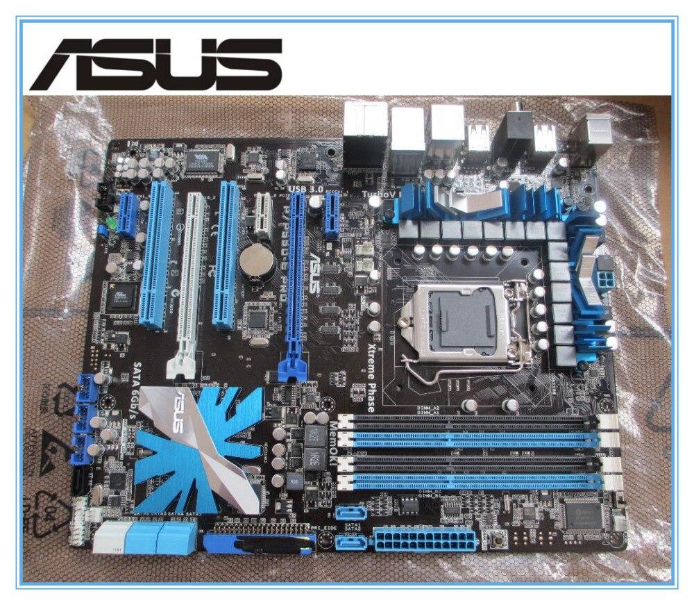 ASUS P7P55D-E Pro carte mère DDR3 LGA 1156 USB3.0 ATX conseils DVI 16 GB P55 Bureau motherborad Livraison gratuite